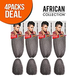 Sensationnel Synthetic Kanekalon Braids African Collection Jumbo Braid (4-Pack, 1)
