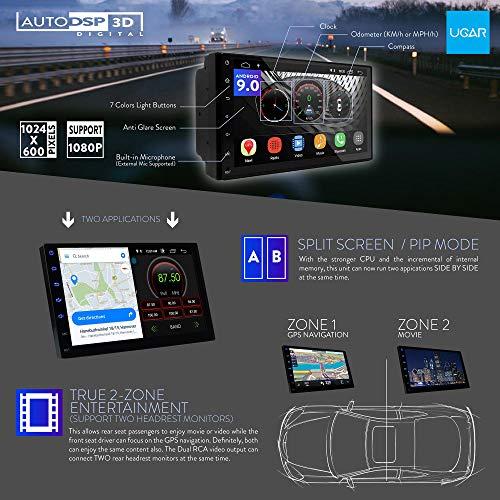 "UGAR EX9 7"" Android 9.0 DSP Car Stereo Radio Plus 11-130 Fascia Kit for Suzuki Kizashi 2009-2014 with Plug and Play Harness"