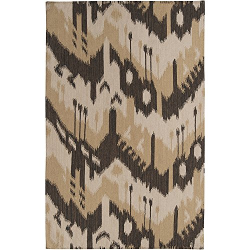 (Surya Jewel Tone JT-2034 Flatweave Hand Woven 100% Wool Bronze 2' x 3' Global Accent Rug)