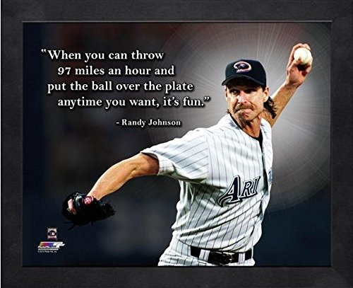 Randy Johnson Arizona Diamondbacks Pro Quotes Photo (Size: 12