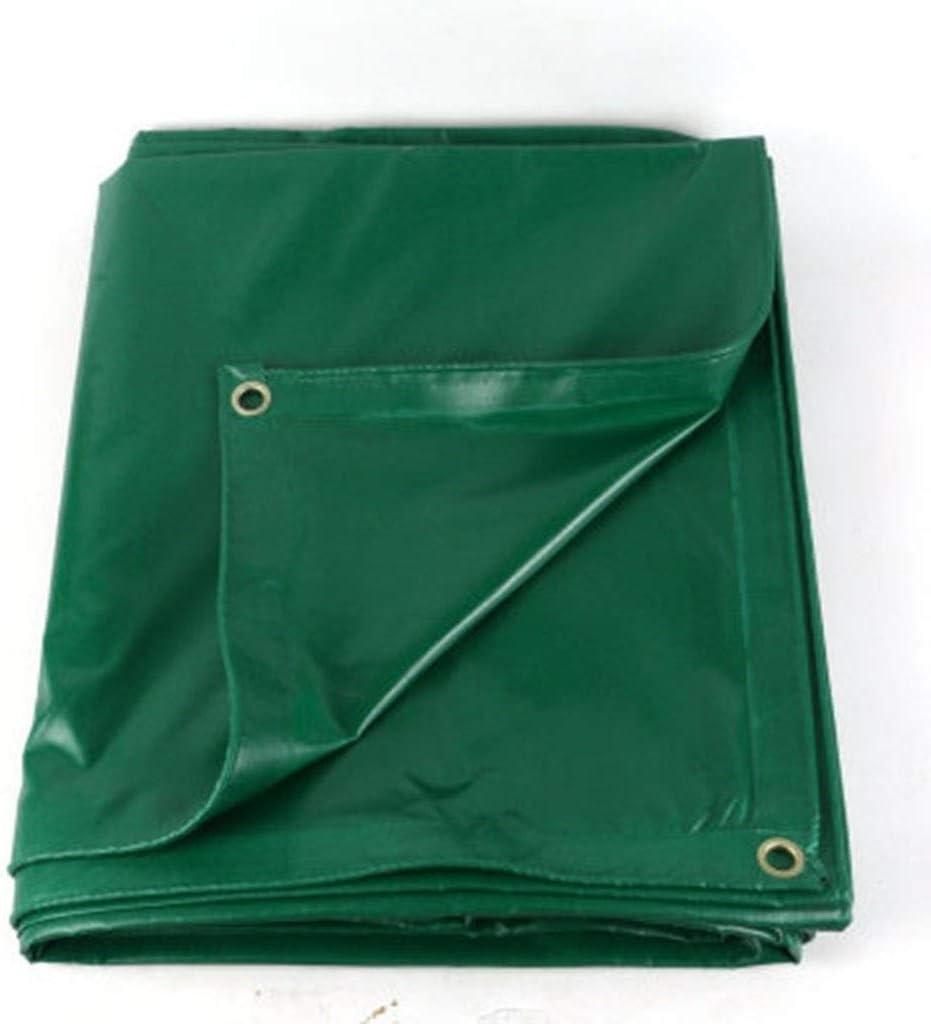 Mr.T Paño de la Cortina impermeab le Lona Impermeable, PVC Láminas De Plástico Verde Lonas Resistentes 500 ± 20 g/m² Cuadrado con Agujero De Hebilla Galvanizada. paño Protector Solar (Size : 2m*3m)