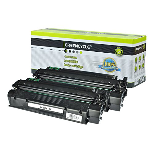 GREENCYCLE 2 PK Q2613X Laserjet Toner Cartridge 13X Replacement for HP Laserjet 1300 1300n 1300xi Printer
