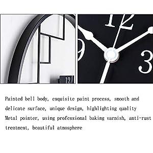Wall clock Reloj de Pared de Hierro Forjado de Estilo Chino Reloj de Pared de 18 Pulgadas (45 * 45 cm) Dormitorio Reloj de Pared Movimiento metálico Movimiento de Barrido 1 batería AA (sin impuestos) 5