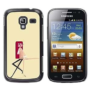 """For Samsung Galaxy Ace 2 Case , Dibujo Redhead minimalista amarillo"""" - Diseño Patrón Teléfono Caso Cubierta Case Bumper Duro Protección Case Cover Funda"""