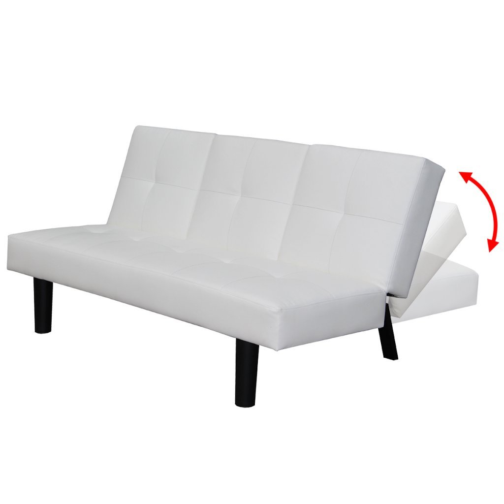 Festnight Mueble de Sof/á Cama Desplegable con Mesa Blanco