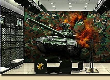 AQSGH Camuflaje graffiti ejército militar wallpaper bar KTV tema sala de ocio bar Internet cafe wallpaper 3D mural sólido, importado medio ambiente tela no tejida (costura): Amazon.es: Bricolaje y herramientas