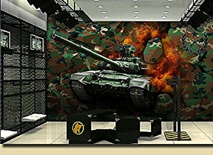 AQSGH Camuflaje graffiti ejército militar wallpaper bar KTV tema ...