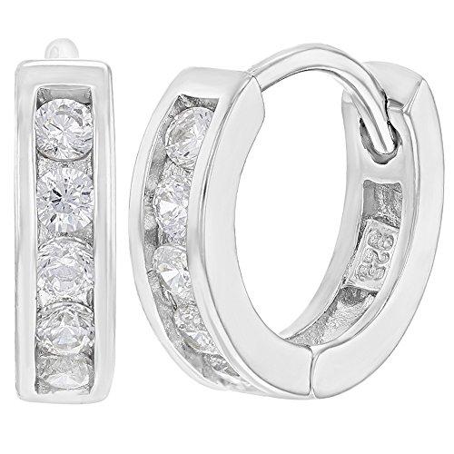 4f7e752f1229 30% de descuento In Season Jewelry - 925 Plata de Ley Circonitas Claras  Pequeño Aros