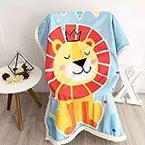 Baby Cartoon Blanket Cashmere&Plush - Super Soft Children Push-Car Covers Winter Thick Design Kindergarten Sleep Blankets 59 X 79 Inch Lion