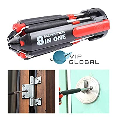8 in 1 Multi Portable Screwdriver Tools Set with 6 LED Torch - Led Household Light Bulbs - .com