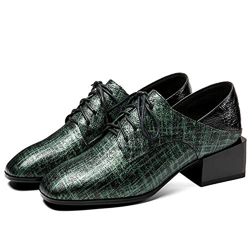 Dark Femme Green Square Chaussures Block CxvgwpXq