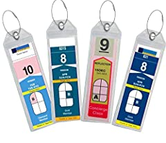These are eTag holders. That means you print off the etags from your confirmation email that you get from the RCCL or Celebrity cruise line at home. You do NOT use the tags they send you in the mail. These are designed to fit the Royal Caribb...