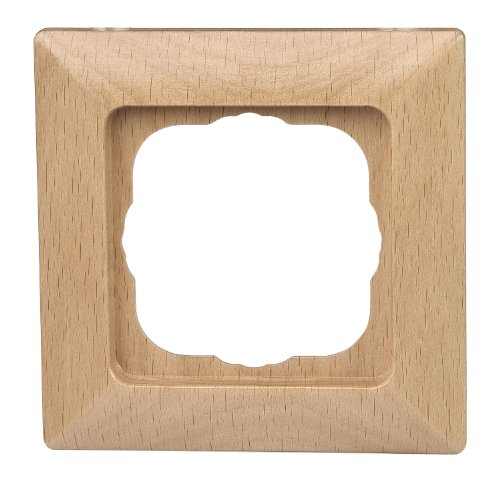 Kopp Milano 306515064 Cover Frame for 1 Socket for Vertical and Horizontal Mounting Beech