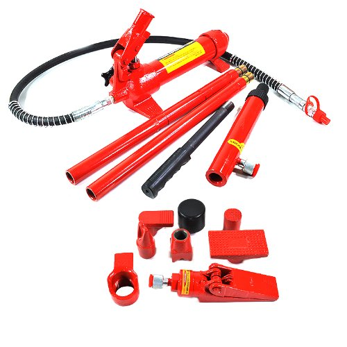 ARKSEN Hydraulic 4 Ton Porta Power Body Frame Repair Kit Auto Body Shop Lift Ram with Portable Case