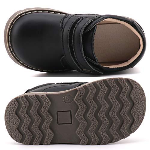 Femizee Toddler Boys Leather Loafers Comfort Uniform Oxford Dress Wedding Shoes, Black, 1327 CN25 by Femizee (Image #2)