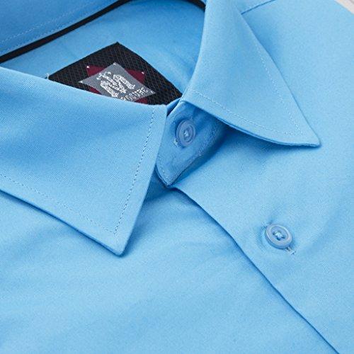 XTX Mens Stylish Slim Long Sleeve Cotton Jeans Flap Pockets Button Down Shirts