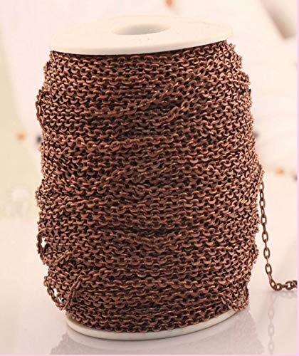 - Laliva Wholesale 1m Curb Aluminum Open Link Chains Lot for Necklace Bracelet U Choose Color Jewelry DIY Manual Making - (Color: Copper)