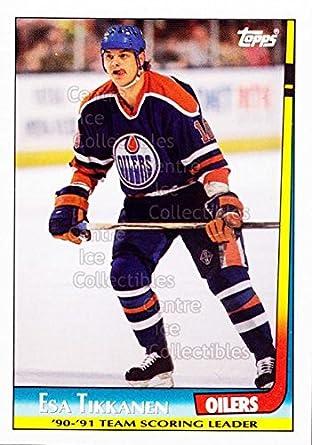 2f0fafb32 Amazon.com  (CI) Esa Tikkanen Hockey Card 1991-92 Topps Team Scoring ...