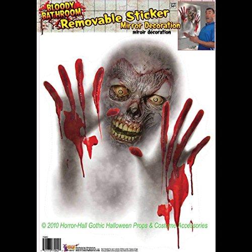 Forum Novelties Bloody Horror Bathroom-Zombie Mirror Cling-Window Sticker