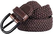 "Junior Braided Stretch Elastic Belt |Pin Buckle | PU Loop End Tip | Boys Girls | 1"" width | 5 Sizes 5 C"