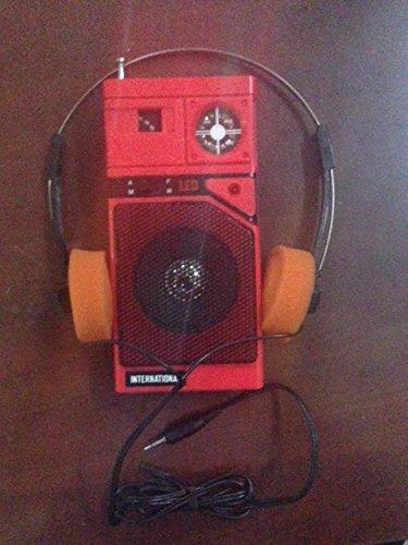 Guardians Of The Galaxy Style Walkman AM FM RED Radio w/ Orange Headphones - Working Prop Halloween 2014! -