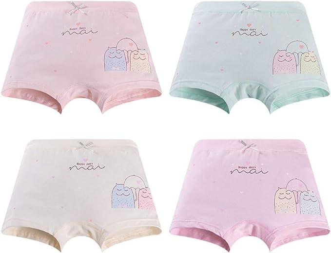 Serecofo – Juego de 4 Braguitas para bebé niña – de algodón ...