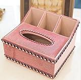 LaaLaa Bath accessories tissue box, with Diamond luxurious tissue box,Cloth art Multifunction Tissue box Jewelry Box,tissue box holder with storage,A1