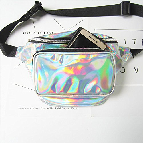 Laser for Silver Pack Hiking and Flada Perfect Bumbag Rosy Fanny Clear Hologram Festivals Pack nRxCCwFqf1