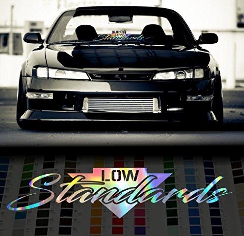 (Low Standards Stance Japanese Windshield Decal Sticker - Oil Slick - 24