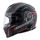 Torc T14B Blinc Loaded Scramble Mako Full Face Helmet (Flat Black with Graphic, Medium)
