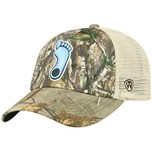 NCAA North Carolina Tar Heels Men's Camo Stock Adjustable Mesh Icon Hat, Real Tree -