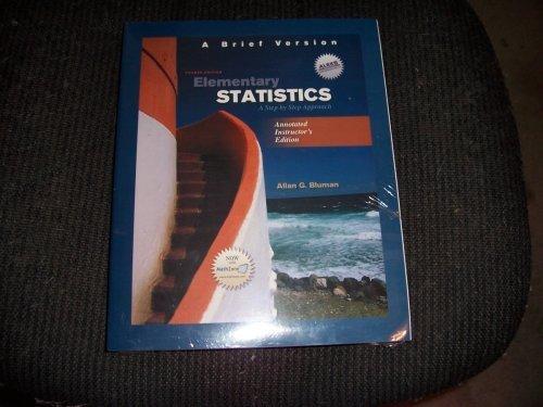 Elementary Statistics a Brief Version An