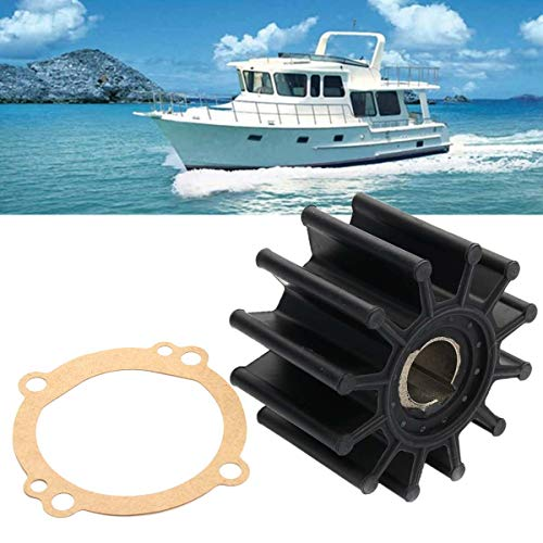 Value.Trade.Inc - Water Pump Impeller Repair Kit Set For Sherwood S11095G S11095-G S-11095G 10615K Rubber+Metal Black 12 Blades Shaft ()