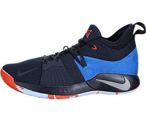 Nike Mens Paul George PG 2 Basketball Shoes Dark Obsidian/Kinetic Green/Navy AJ2039-400 Size 10