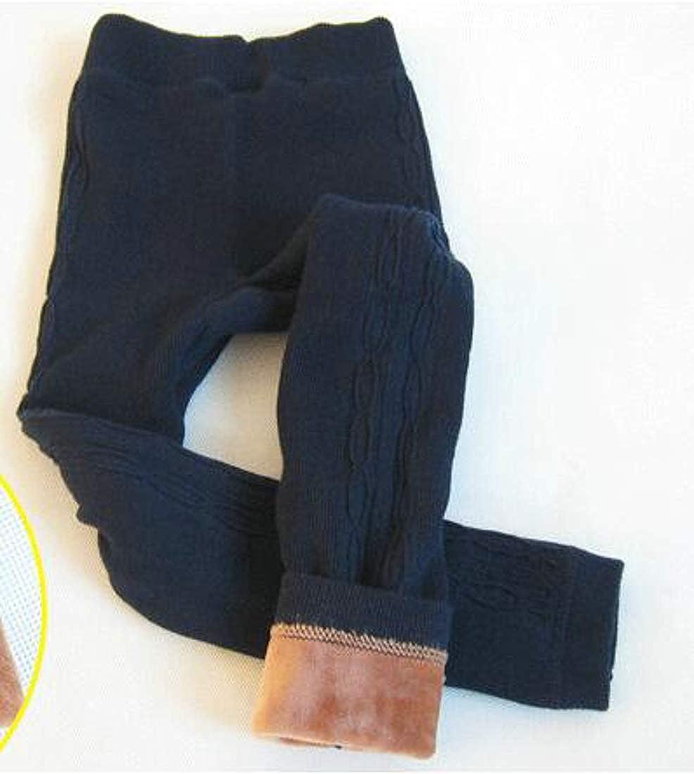 Bigbarry Girls Warm Stretch Winter Thick Fleece Knit Legging
