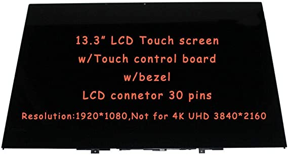 JYLTK New Genuine 13.3 FHD LCD Screen Display Bezel Fame Touch Digitizer Touch Control Board Assembly for Lenovo Thinkpad FRU: 02DL619 01HY322