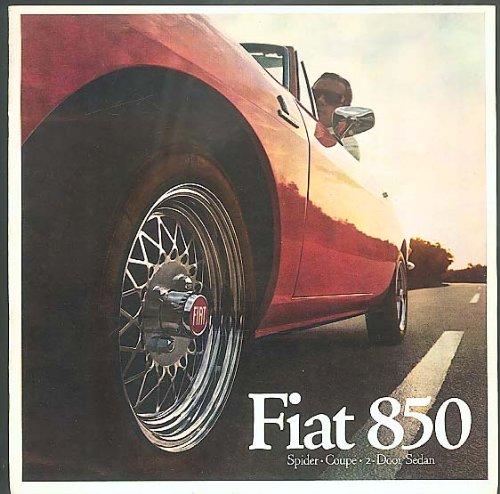 Fiat 850 Spider Coupe & 2-Door Sedan brochure -