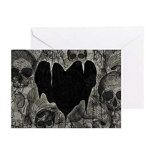 - CafePress - Bleak-Heart_12X18 - Greeting Card, Note Card, Birthday Card, Blank Inside Glossy