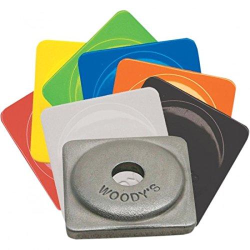 Woodys Aluminum Square Support Plates - Natural - 5/16in. Thread , Material: Aluminum ASW2-3775