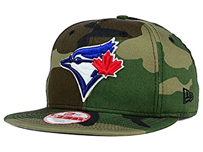 New Era 9Fifty MLB Toronto Blue Jays Hat State Clip Snapback Woodcamo One Size Cap