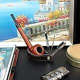 FIREDOG Pipe Holder, Genuine Leather Tobacco Pipe