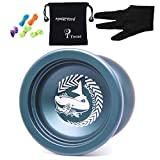 MAGICYOYO N12 Shark Honor Unresponsive Yoyos Set Metal Yo-yo Professional Yo Yo, Dark Blue