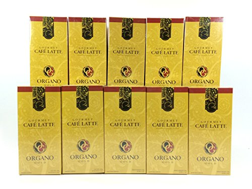 10 Boxes of Organo Gold Ganoderma -Gourmet Café Latte Coffee (20 sachets per box) by Organo Gold