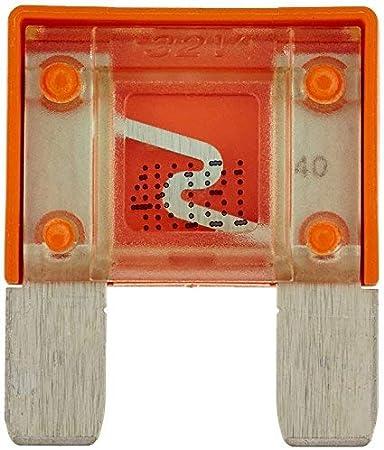 colore: arancione /SK2//°c10065/grande Maxi fusibile 40/A 32/V 6/V 12/V 24/V auto camion Utility Aerzetix/ 29/mm