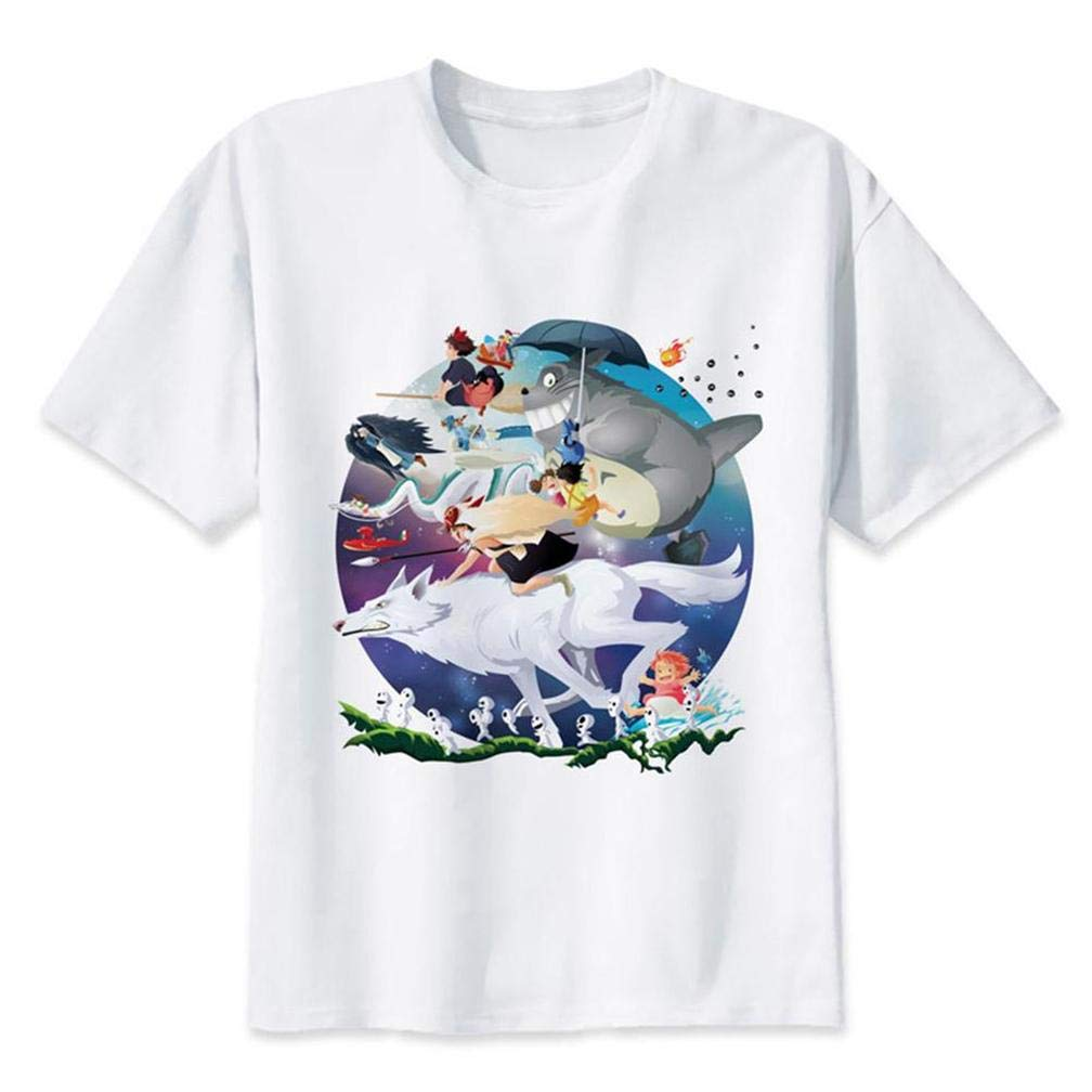Ghibli Miyazaki Madness S T Shirt Printing Short Sleeve Tee