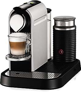 Nespresso CitiZ D120 Espresso Maker with Aeroccino Milk Frother, Aluminum
