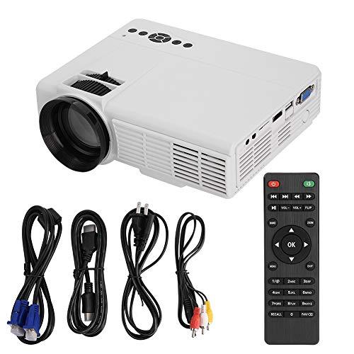 Mugast Portable HD Home Theater Projector, Support 1080PHD Displaying/1200Im High Brightness, HDMI/AV/VGA/USB/TF Input, Clear Stereo Sound from Mugast