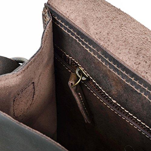 Gusti Leder studio ''Ashton'' Umhängetasche Lederhandtasche Festivaltasche Handtasche Damentasche Frauentasche Retro Vintage Abendtasche Büffelleder Vintage Antikbraun Braun 2M33-26-54