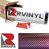 Rwraps 3D Purple Chameleon Carbon Fiber 5ft x 1ft W/Application Card Vinyl Vehicle Car Wrap Film Sheet Roll
