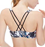 icyzone Sports Bra for Women - Women's Workout Clothes, Strappy Sports Bra, Yoga Tops, Exercise Tops (S, Butterfly)